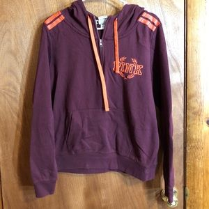 PINK burgundy sweatshirt size XL